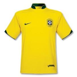 Brazilië Thuis Shirt 2006 Retro
