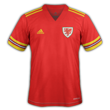 Wales Thuis Voetbalshirt